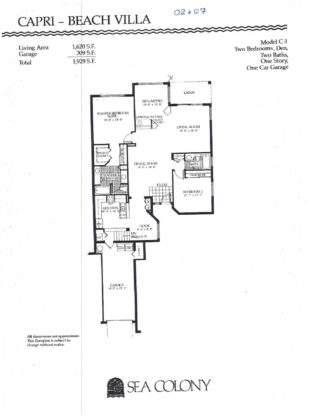 Sea colony floor plans sea colony jupiter florida for Capri floor plan